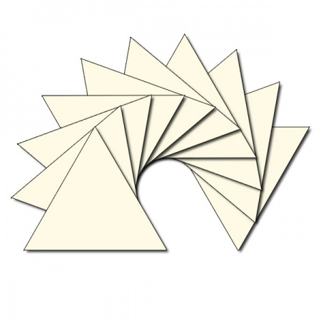 Triangle fabric charm packs - plain cream
