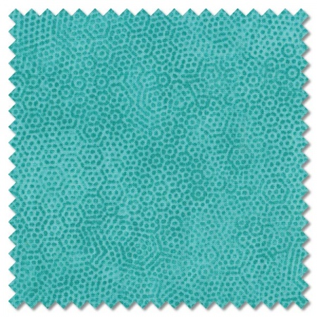 Dimples - T17 turquoise (per 1/4 metre)