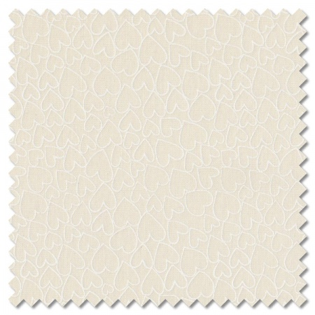 Essentials - light cream hearts (per 1/4 metre)