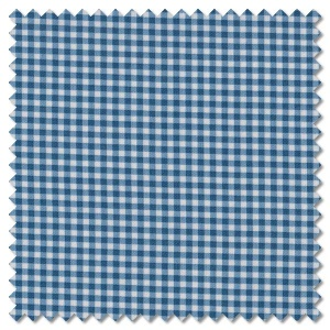 French Chateau & Bee - gingham sky (per 1/4 metre)
