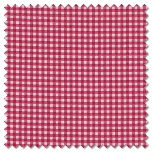 French Chateau & Bee - gingham cherry (per 1/4 metre)
