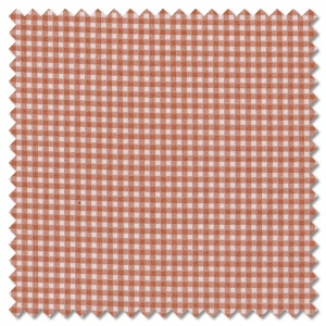 Basics - dusty coral gingham check (per 1/4 metre)