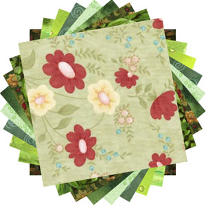 Green prints 20 charm pack