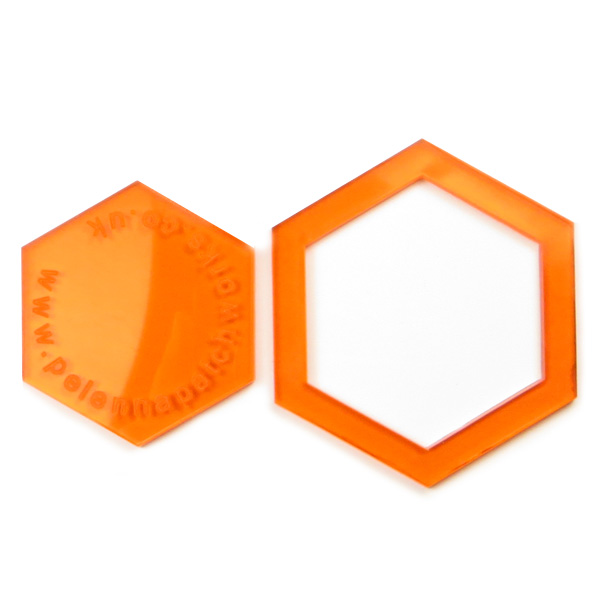 1 inch acrylic hexagon patchwork templates - Pelenna Patchworks