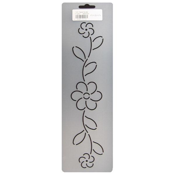 143 Flower border quilting stencil 2 5 inch