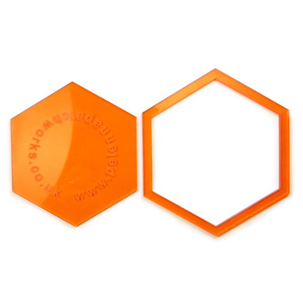 2 Inch Acrylic Hexagon Patchwork Templates Pelenna