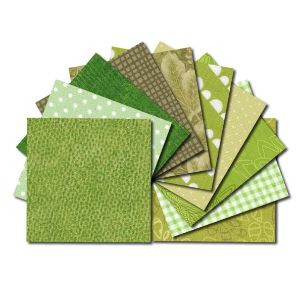 Green Square Fabric Charm Packs Green Fabric Squares