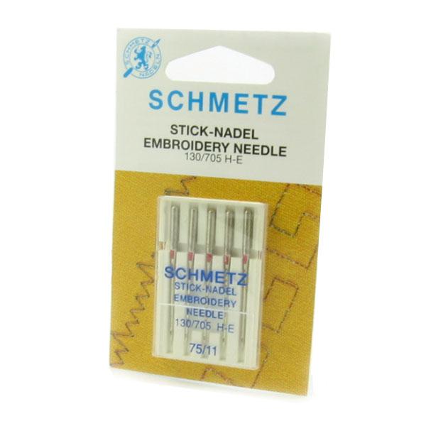 Schmetz Embroidery Sewing Machine Needles Size 75 11
