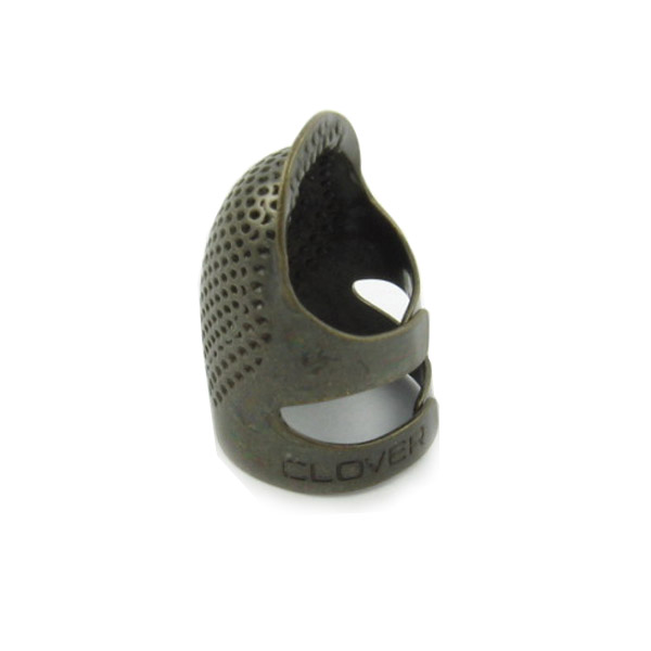 Clover Adjustable Metal Open Sided Quilting Thimble Size