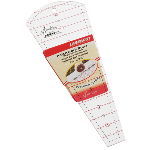 Dresden Plate Ruler 8 Inch X 3 5 Inch Pelenna Patchworks