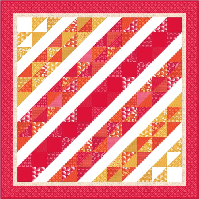 Moda Simply Colorful Quilt Kit And Pattern Pelenna