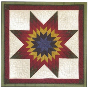 Lone Star wall quilt kit (22inch x 22inch)