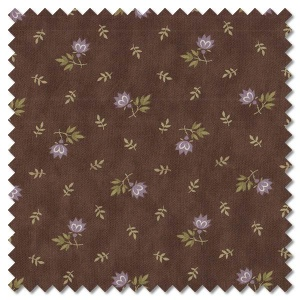 Mill Creek Garden - flowers earth brown (per 1/4 metre)