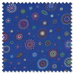 Origins - spaced dots blue (per 1/4 metre)