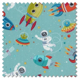 Outer Space - scene turquoise (per 1/4 metre)