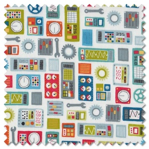 Outer Space - dials white (per 1/4 metre)