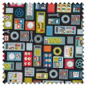 Outer Space - dials black (per 1/4 metre)