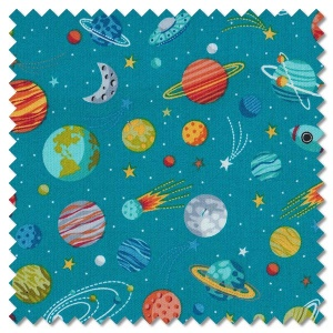 Outer Space - planets blue (per 1/4 metre)