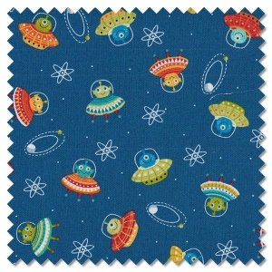 Outer Space - scatter blue (per 1/4 metre)