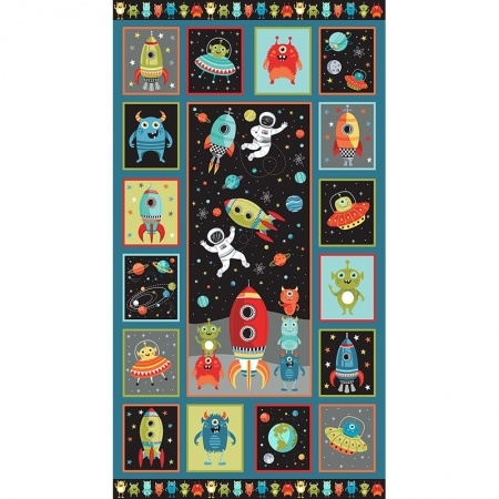 Makower Outer Space quilt panel