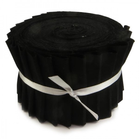Plain black strip roll