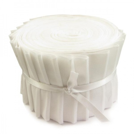 Plain white strip roll