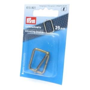 25mm strap adjusting buckle - antique brass