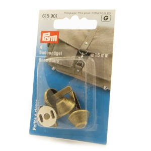 Prym bag feet - 15mm base nails antique bronze