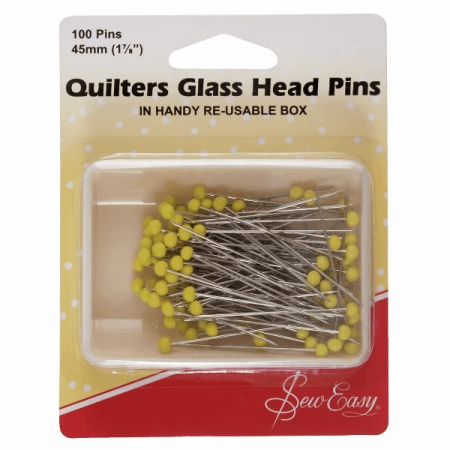 Glass head quilting pins