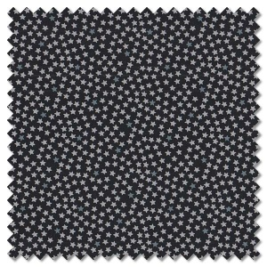 Sevenberry Black & White - tiny stars on black (per 1/4 metre)