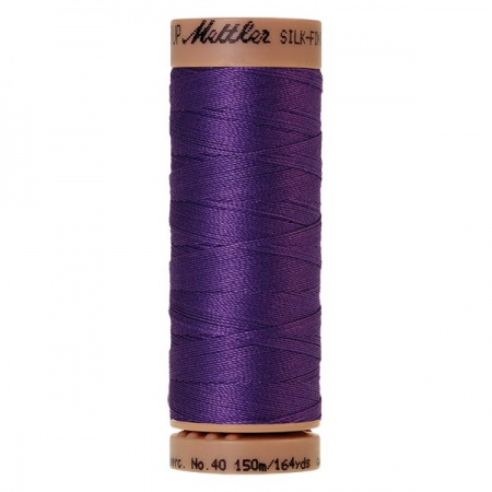 0030 - Iris blue Mettler Silk Finish 40 quilting thread 150m