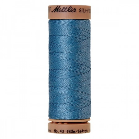 0338 - Reef blue Mettler Silk Finish 40 quilting thread 150m