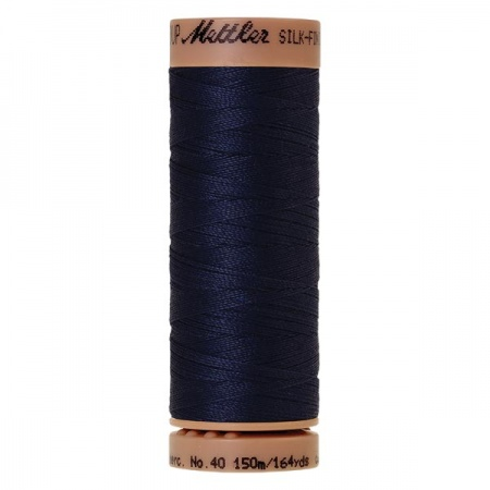 0825 - Navy Mettler Silk Finish 40 quilting thread 150m