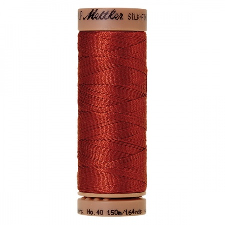 1074 - Brick Mettler Silk Finish 40 quilting thread 150m