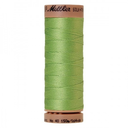 1527 - Jade lime Mettler Silk Finish 40 quilting thread 150m