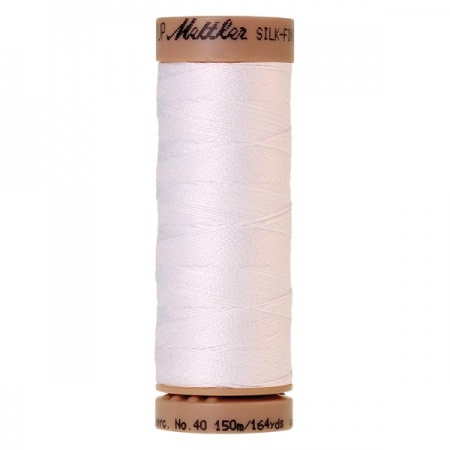 2000 - White Mettler Silk Finish 40 quilting thread 150m