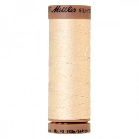 3612 - Antique white Mettler Silk Finish 40 quilting thread 150m