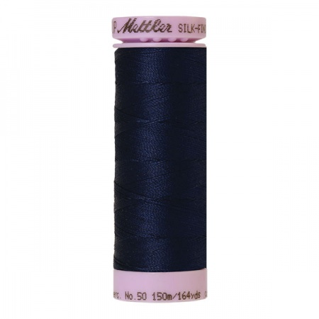 0825 - Navy Mettler Silk-Finish Cotton 50 150m