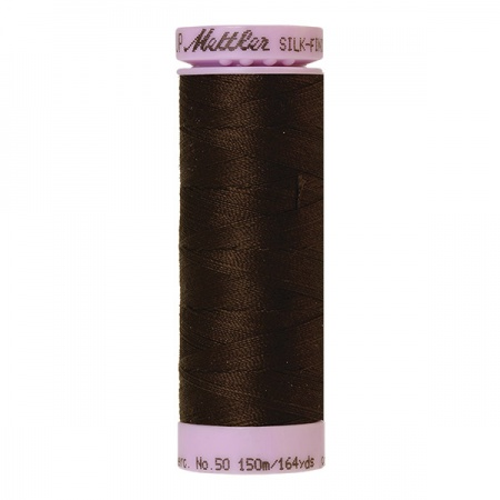 1002 - Very dark brown Mettler Silk-Finish Cotton 50 150m