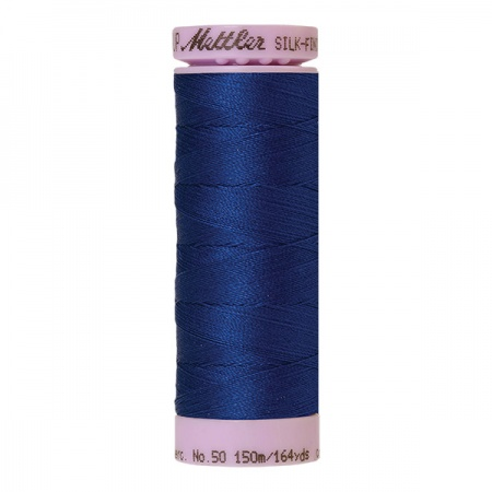 1304 - Imperial blue Mettler Silk-Finish Cotton 50 150m