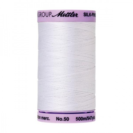 2000 - White Mettler Silk-Finish Cotton 50 500m