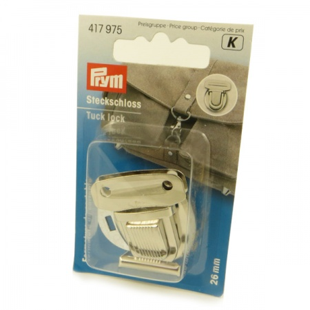 Prym 26mm silver tuck lock bag fastening