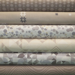 Andover Fabrics Stealth neutral 6 fat quarter pack
