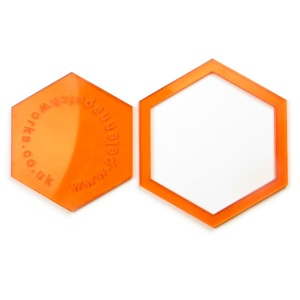 Acrylic hexagon templates - 1.5 inch