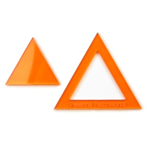 Acrylic triangle templates - 1.5 inch