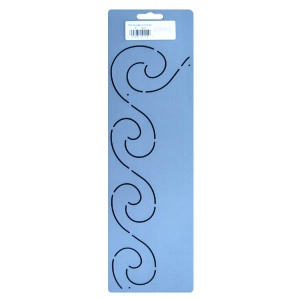 119 Swirling border quilting stencil 2 inch