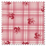 Mackinac Island - printed plaid red (per 1/4 metre)
