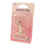35mm swivel clip (bolt snap) - silver