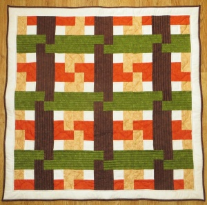 Autumn Weave lap quilt kit (40 inch x 40 inch)