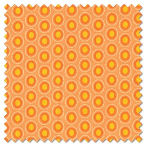 Oval Elements - papaya orange (per 1/4 metre)